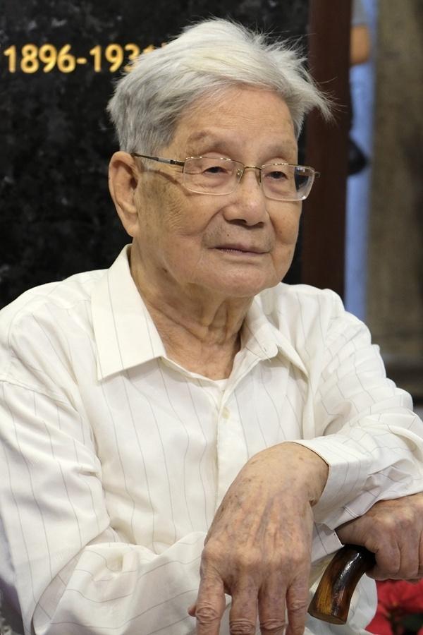 杨匏安幼子杨文伟先生。摄影:陈冰青