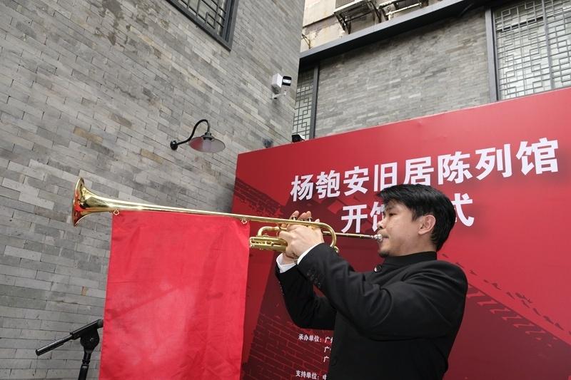 100年前,瞿秋白、杨匏安等人在此处教唱《国际歌》;100年后,杨家祠再度响起慷概激昂的《国际歌》。摄影:陈冰青