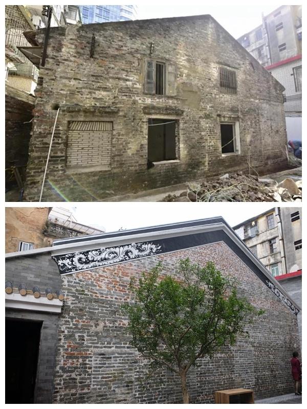 杨匏安旧居陈列馆修缮前后对比图。摄影:陈冰青